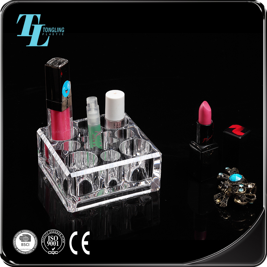 Durable wholesale makeup holder acrylic eyelash organizerr lipstick display stand