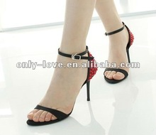 BS388 simple black high heel evening sandals party sandal