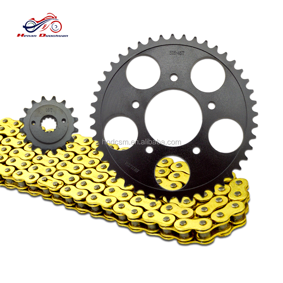 Top quality sell STEED motorcycle chain and sprocket kit ,motorcycle spare parts for Honda