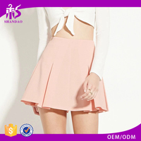2016 guangzhou shandao summer wholesale new design fashion plain dyed pleated women latest skirt design pictures