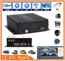 AHD 4 Channels High Definition Hard Disk Mobile DVR mini car multi camera dvr