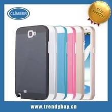alibaba express Push-pull function Metal bumper with PC back cover aluminum case for samsung note 2 n7100