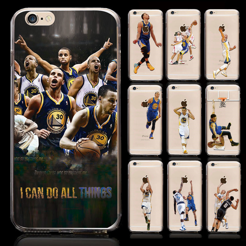 Basketball Player Jordan with nba patter plastic tpu clear custom printed phone case for iphone 6 6s