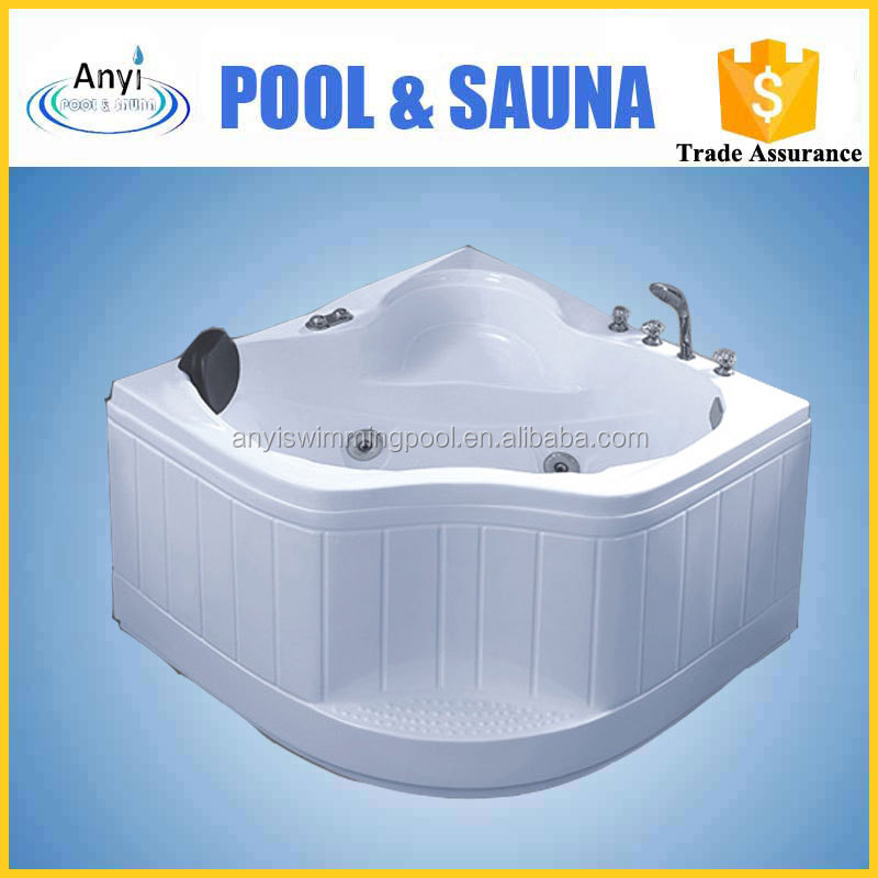 Cheap price simple small portable acrylic whirlpool bathtub for adults