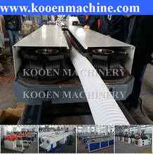 KOOEN hot selling PE PP PVC single double wall corrugated plastic pipe extrusion line extruder production making machine