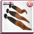 Cheap colored two tone peruvian hair weave