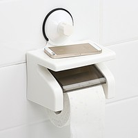 bathroom plastic waterproof roll paper towel holder with suction cup