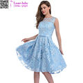 Charm Women Fashion Floral Embroidered Chiffon Party Dress L36200