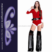 ML8061 Red Hat V-Neck Funny Party City Woman Christmas Costume