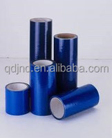 Self-adhesive protective film for glass
