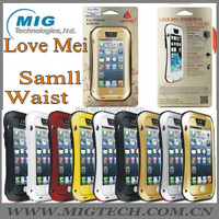 Love Mei brand Tri protect samll waist style AL metal phone case for iphone 5S, for iphone 5 case mobile phone accessory