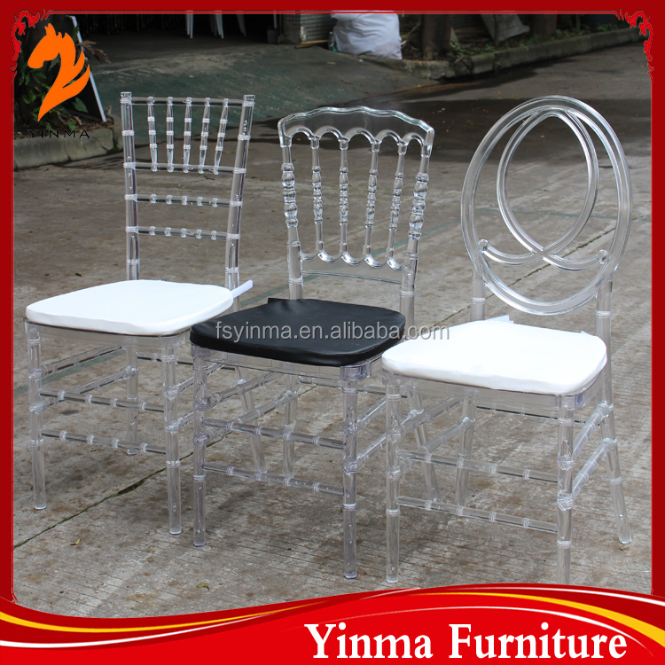 China manufacturer silla cristal tiffany transparent pc chiavari chair
