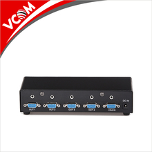 VCOM Metal 350MHz 4 Port 1*4 VGA Audio Splitter 1 input 4 output