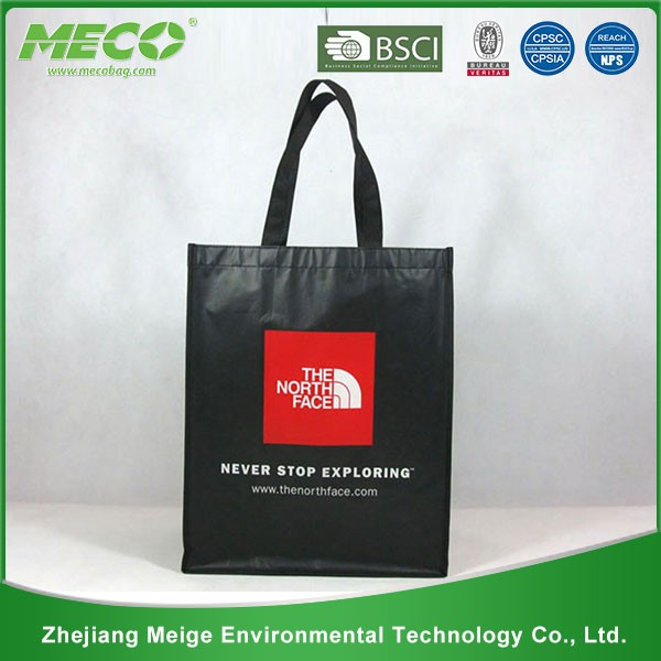 Black promotional two color two sides ECO non woven bag