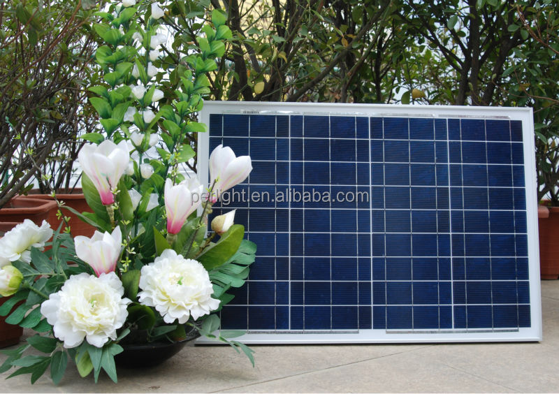 40 watt poly solar panel for solar panel mounting aluminum rail with CE