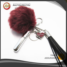 Lovely Custom Fur Pom Pom Key Chain