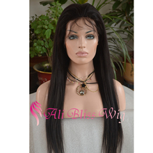 Natural Light Yaki Straight Full Lace Human Hair Wigs with Baby Hair for Black Women