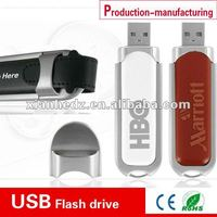 leather usb 2.0 flash disk, debossed your logo