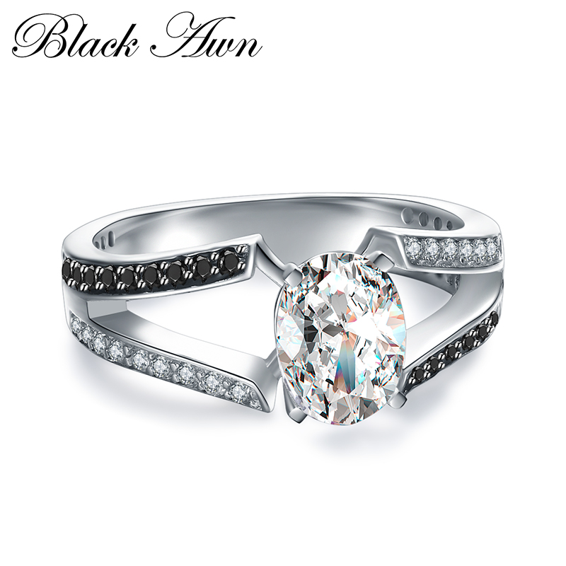 [BLACK AWN] Wedding Rings for Women 925 Sterling Silver Fine Jewelry Trendy Engagement Ring <strong>C018</strong>