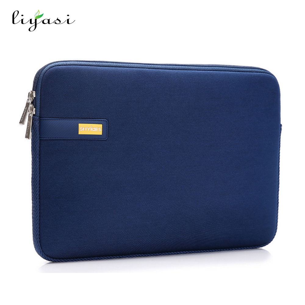 14inch pure color computer Neoprene Sleeve laptop messenger bag