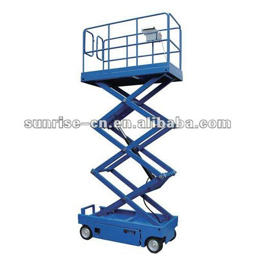 Cheap Price Indoor Outdoor Mobile Electric scissor lift with 4m Lifting height