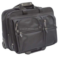 Professional durable cloth luggage carry on case with wheels