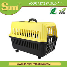 Plastic pet carrier with wheels fiberglass dog house