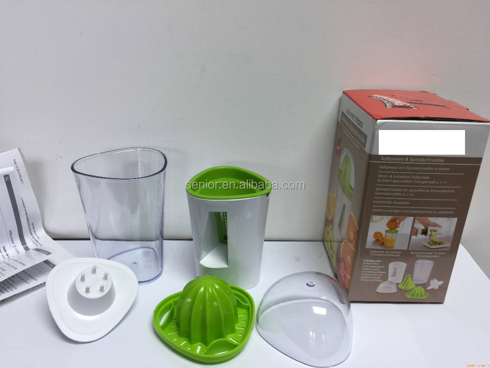 2 in 1 Vegetable spiralizer and Saftpresse Oranger Juicer kitchen spiral slicer LFGB report