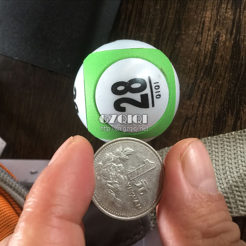 Special lottery solid ball for the lottery machine