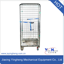 4-sided supermarket wire zinc nesting A-frame roll container , roll cage , wire mesh cages