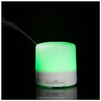 Rechargeable battery operated mini humidifier with LED light