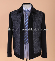 ZHAN SHI Hot Sale Autumn and Winter Gray Mens Wool Jackets