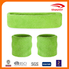 Your Custom Solid Color Sports 100% Cotton Sweatband Set packed 1 headband and 2 wristbands