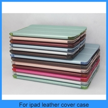 Silk print pu leather with pc dull polish back cover for ipad air leather case