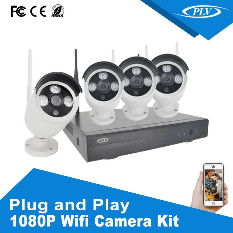 Wireless Wifi HD 1080P NVR Kits with Android IOS Phone Remote Management cctv kit wifi