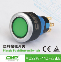 22mm CMP waterproof plastic latching or momentary led illuminated domestic switch ip67