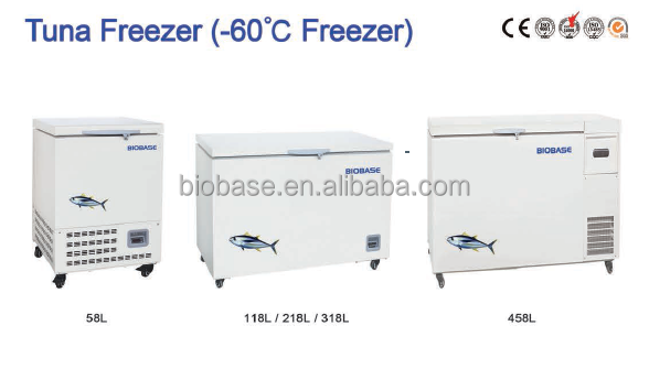 Hot! horizontal ultra low temperature fridge freezer/ -60 degree freezer