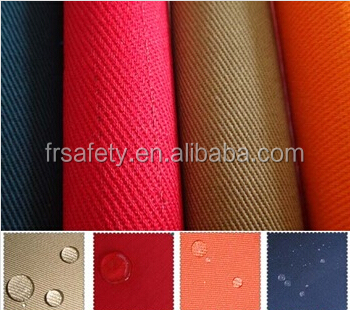 FACTORY MADE Fire Retardant & water repellent 150gsm to 300gsm Fabric for conductive safety clothing