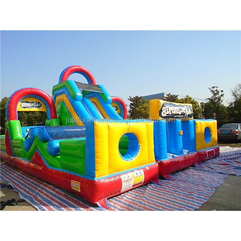 juegos inflatable adult obstacle park for sale
