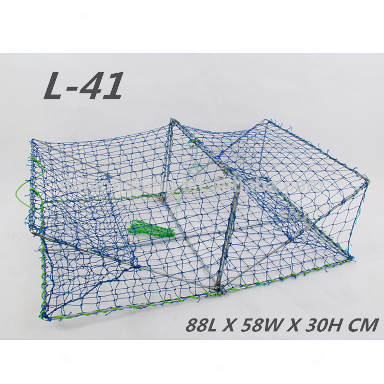 Rectangular Foldable trap for catching shrimp, plastic lobster traps, crab traps