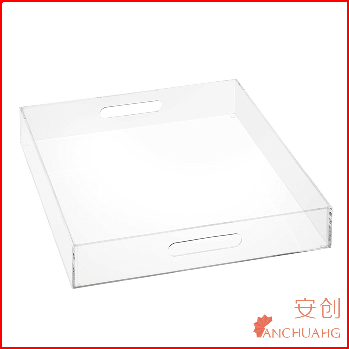 Clear Acrylic Serving Tray with Handles