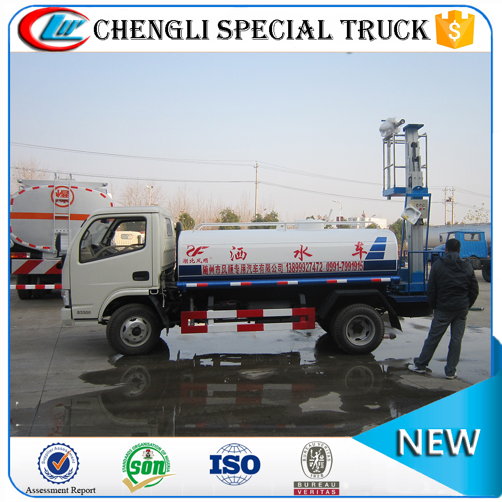 DongFeng small water truck water sprinkler truck with lift platform