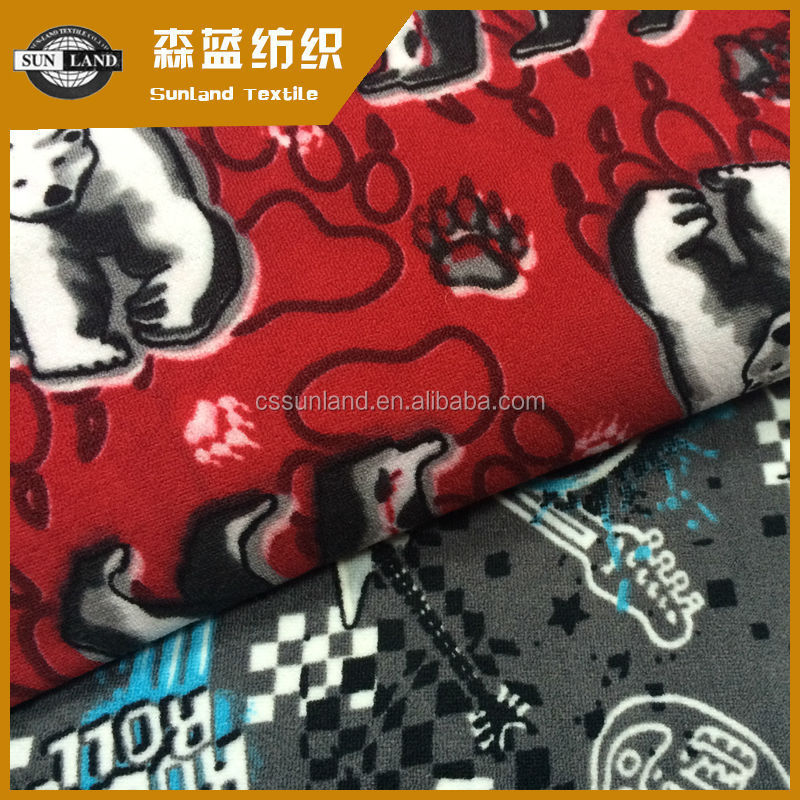 printed polar fleece