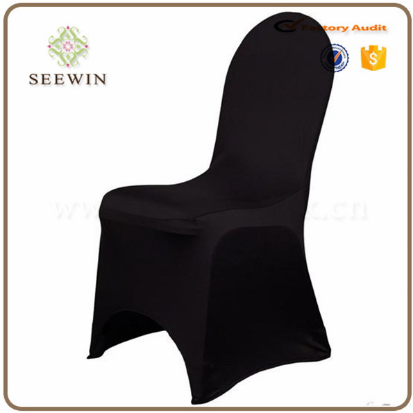 hotsale black spandex universal chair covers with arch in bottom