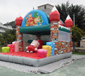 2017hot commercial inflatable christmas castle,inflatable christmas bouncer
