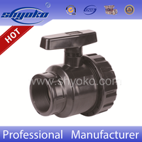 Manufacturer hot selling pvc SINGLE UNION BALL VALVE ( FXF), upvc ball valves, plastic valves
