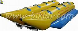 Top quality inflatable tude towable/fly fish banana boat/flying fish toy made from Xiamen China D3014