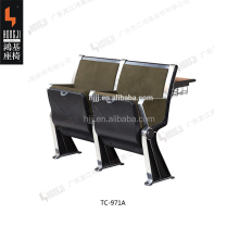 Durable double connected school classroom desk and chair TC-971A-V for student