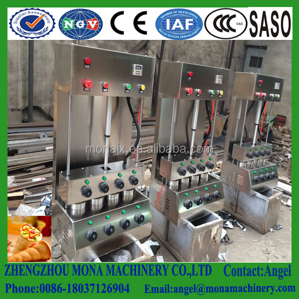 Electric motor driven hand holding pizza machine with rotary Oven
