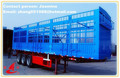 two or three axle box trailers for bulk cargo double or single tires